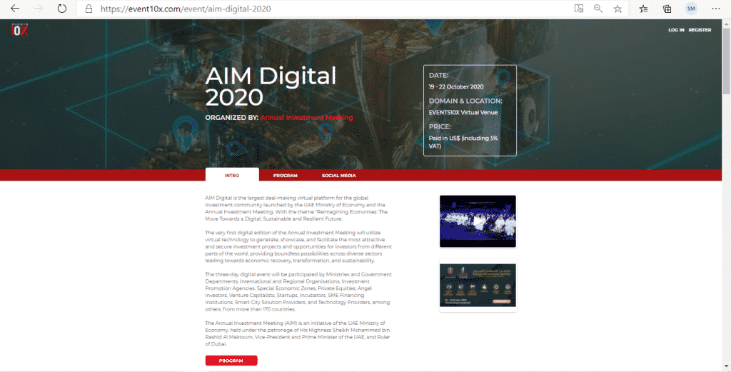 AIM Digital: Main Registration Page
